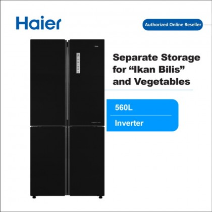 Haier 4 Door Glass 516L Refrigerator HRF-IG525AM(GB)