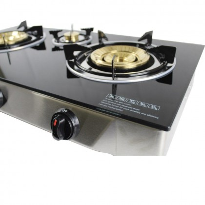 Faber (3 Burner) Tempered Glass Cooker Glass Gas Stove FC GLAZZIMO KING 8133