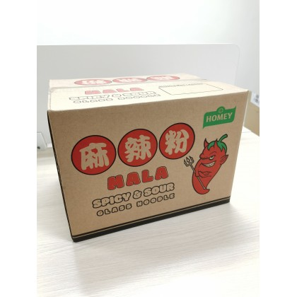 Homey Mala Spicy & Sour Instant Noodle Glass Noodle Vegetarian Food 全素麻辣粉 (1 box = 12 cups)